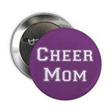 Purple &amp; White Cheer Mom Button