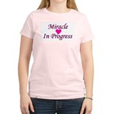 Miracle In Progress Women's Pink T-Shirt