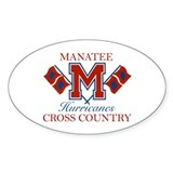 Manatee CC Oval Decal