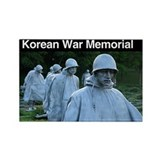 Korean War Memorial Rectangle Magnet