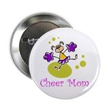 Cartoon Cheer Mom Button 2