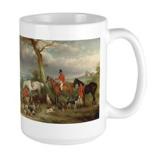 Vintage Painting of the Hunt Coffee Mug