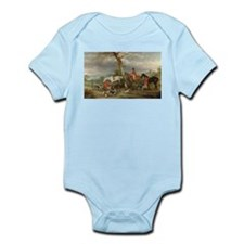 Vintage Painting of the Hunt Infant Bodysuit