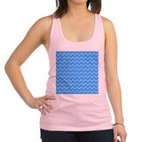 Blue Chevron Pattern. Racerback Tank Top