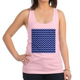 Blue Zigzags. Racerback Tank Top