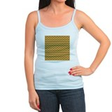Brown Zigzag Pattern. Ladies Top