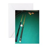 Pool table Greeting Cards (Pk of 10)