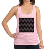 Dark Gray Chevrons. Racerback Tank Top