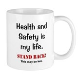 Health and Safety Officer Funny Warning Small Mug