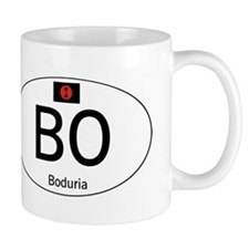Car code Boduria White Mug