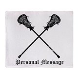 Personalized Lacrosse Sticks Throw Blanket