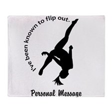 Personalize I Flip Out Throw Blanket