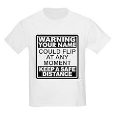 Personalized Gymnastic Warning T-Shirt