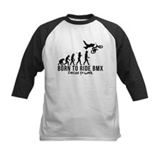 BMX EVOLUTION BORN TO RIDE BMX FORCED TO WORK Tee