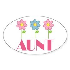 Aunt Gift (Flowered) Decal