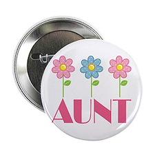 "Aunt Gift (Flowered) 2.25"" Button"