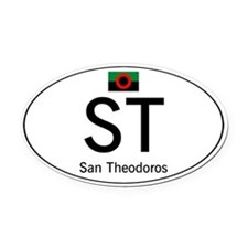 Car code San Theodoros Oval Car Magnet