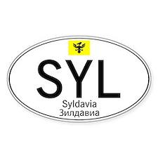 Car code Syldavia - White Stickers