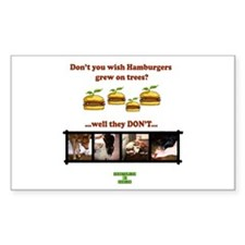 Don't you wish hamburgers gre Sticker (Rectangular