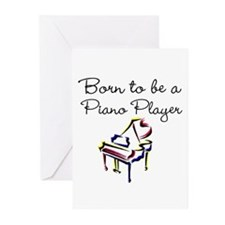 PIANO PLAYER Greeting Cards (Pk of 20)