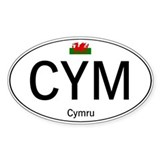Car code Wales - White Decal
