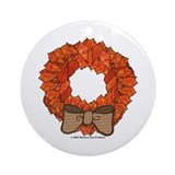 Fall Wreath Ornament (Round)