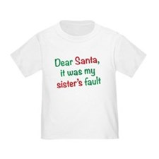 Dear Santa, it was my sister's fault T