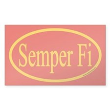 Semper Fi Euro Oval Decal, Decal