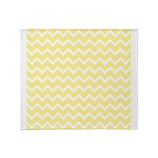 Light Yellow Zigzags. Throw Blanket
