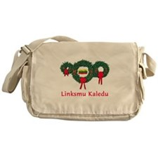 Lithuania Christmas 2 Messenger Bag