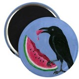 Crow &amp; Watermelon Magnet