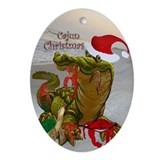 Cajun Christmas Oval Ornament Ornament (Oval)