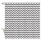 charcoal chevrons zigzag Shower Curtain