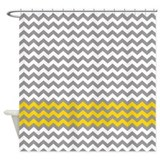 yellow gray chevrons zigzag Shower Curtain