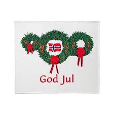 Norway Christmas 2 Throw Blanket