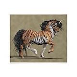 Tiger unicorn Fleece Blankets