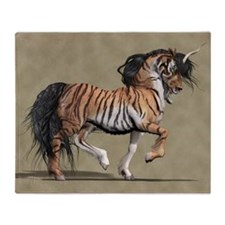 Tiger Unicorn Throw Blanket
