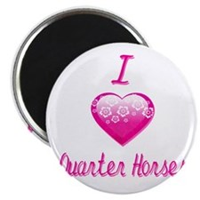 "I Love/Heart Quarter Horses 2.25"" Magnet (100 pack"