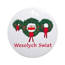 Poland Christmas 2 Ornament (Round)