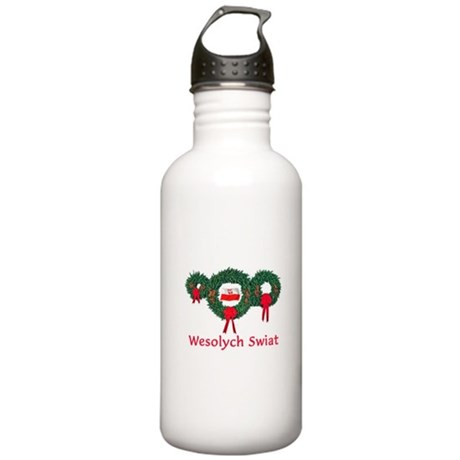 Poland Christmas 2 Stainless Water Bottle 1.0L
