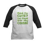 Think I'm Cute? Cousin - Gre Kids Baseball Jersey