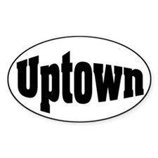 Uptown Oval Decal