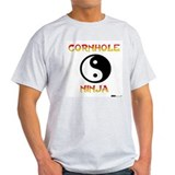 Cornhole Ninja Ash Grey T-Shirt