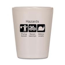 Geocaching Hazards Shot Glass