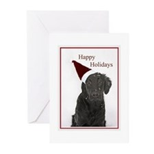 Cute Flatcoated retriever Greeting Cards (Pk of 20)