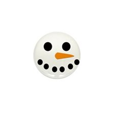 Snowman Face Mini Button (100 pack)