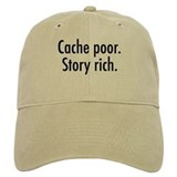 Cache poor Baseball Cap (also in white)