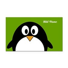 Penguin Cartoon with name Rectangle Car Magnet