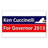 Ken Cuccinelli Virginia Governor 2013 Decal