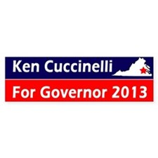 Ken Cuccinelli Virginia Governor 2013 Car Sticker